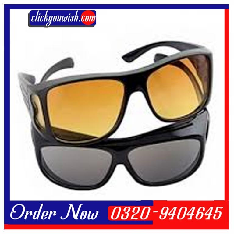 9c21d363e4 Pack of 2 HD Night Vision Glasses Wrap Arounds IN PAKISTAN - Image 1 ...